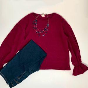 3/$20🌻Zara Girls Sz 13/14 Cranberry Sweater